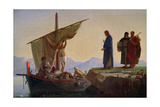 Christ Calling the Apostles James and John, 1869 Giclee Print by Edward Armitage
