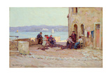 Mending Nets, Martigues, Provence Giclee Print by Terrick Williams