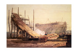A Shipyard at Blackwall Giclee Print by Samuel Prout