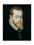 Portrait of Philip II of Spain (1527-1598) Giclee Print by Antonio Moro