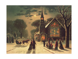 Christmas Eve, Pub. by J. Hoover and Son, 1878 Giclee Print by J. Latham