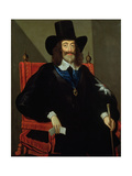 Portrait of King Charles I (1625-49) at His Trial Giclee Print by Edward Bower