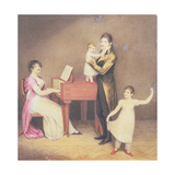 Charles Moran and His Wife Jane Bodin with Jane and William, 1812 Giclee Print by Adam Buck