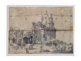 Ruins of St. Paul's Cathedral, C.1673 Giclee Print by Thomas Wyck