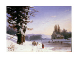 Snow Scene in the South of France, 1868 Giclee Print by Josephine Bowes