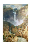 J. M. W. Turner - The Great Falls of the Reichenbach, 1804 - Giclee Baskı