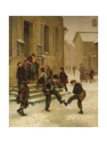 In Front of the School Giclee Print by Charles Edouard Frere