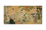 One of Eight Views of Kanjin Sumo, Pub. by Tsutaya, 19th Century Giclee Print by Utagawa Kunisada