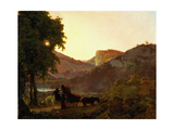 Landscape Giclee Print by Joseph Wright of Derby