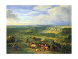 View of the City of Luxembourg from Near the Mansfeld Baths, 1684 Giclee Print by Adam Frans van der Meulen