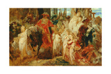 Study for the Entrance of Emperor Charles V (1500-58) into Antwerp in 1520, 1876-77 Giclee Print by Hans Makart
