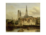 Quay in Rouen, 1839 Giclee Print by Johannes Bosboom