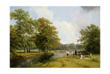 A Picnic in Stoneleigh Park Giclee Print by Thomas Baker