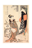 P.349-1945 Scene 2, Comparison of Celebrated Beauties and the Loyal League, C.1797 Giclee Print by Kitagawa Utamaro