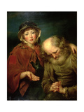 The Blind Beggar and His Grand-Daughter Giclee Print by John Russell