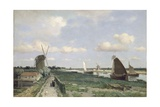 View of the Trekvliet Canal Near the Hague, 1870 Giclee Print by Johannes Hendrik Weissenbruch