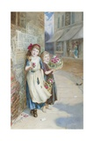 Little Flower Sellers Giclee Print by Augustus Edward Mulready