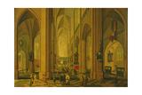 Interior of a Church at Antwerp, C.1660 Giclee Print by Pieter The Elder Neeffs