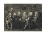 Benn's Club of Aldermen, Engraved by J. Faber Giclee Print by Thomas Hudson