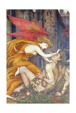 Knowledge Strangling Ignorance Giclee Print by John Roddam Spencer Stanhope