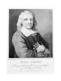 Portrait of Isaac Walton (1593-1683) Engraved by Marino Bovi (1758-1805) 1794 Giclee Print by Jacob Huysmans