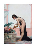 Watering the Garden Giclee Print by Auguste Raynaud