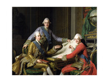 King Gustav III of Sweden (1746-92) and His Brothers, 1771 Giclee Print by Alexander Roslin