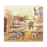 The Interior of a China Shop, C.1836 Giclee Print by Mary Ellen Best