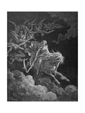 The Vision of Death, Engraved by Heliodore Joseph Pisan (1822-90) C.1868 Reproduction procédé giclée par Gustave Doré