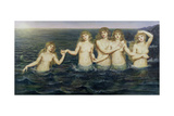 The Sea Maidens, 1885-86 Reproduction procédé giclée par Evelyn De Morgan