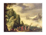 Christ Casting Out Devils Giclee Print by Paul Brill Or Bril