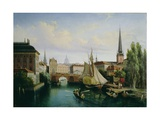 View of the Riddarholmskanalen, Stockholm in 1835, 1880 Giclee Print by Gustav Palm