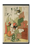 P.357-1945 Scene 10 Comparison of Celebrated Beauties and the Loyal League, C.1797 Giclee Print by Kitagawa Utamaro