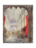 Interior of King's College Chapel, 1843 Giclee Print by Joseph Murray Ince