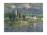 Landscape with a Thunderstorm Giclee Print by Claude Monet