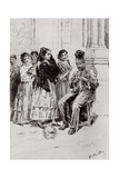 'Carmen'By Prosper Merimee Illustrated by Eugene Decisy (1866-P.1936) Giclée-Druck von Gaston Vuillier