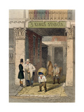 Remains of Clarendon House, Three Kings Livery Stables, Piccadilly, from 'Vestiges of Old… Giclee Print by John Wykeham Archer