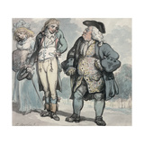Father's Displeasure Giclee Print by Thomas Rowlandson