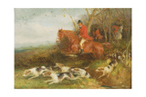 Foxhunting: Breaking Cover Giclee Print by William Joseph Shayer