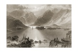 Killary Harbour, County Mayo, Ireland, from 'scenery and Antiquities of Ireland' by George… Giclee Print by William Henry Bartlett