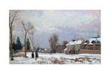 Road from Versailles to Saint-Germain, Louveciennes, and Effects of Snow, 1872 Reproduction procédé giclée par Camille Pissarro