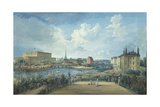 View of Stockholm from the Fersen Terrace with the Palace Makalos Giclee Print by Elias Martin