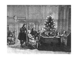The Legend of the First Christmas Tree Candles, Mid 18th Century Giclee Print