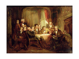 Sir Walter Scott and His Literary Friends at Abbotsford Giclee Print by Thomas Faed