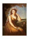 Comtesse Du Barry, Holding a Rose Giclée-Druck von Elisabeth Louise Vigee-LeBrun