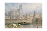 Nantes Cathedral from the River Giclee Print by Myles Birket Foster