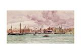 Portsmouth Harbour, 1884 Giclee Print by John Brett
