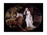 Una and the Lion (Isabella Saltonstall as Una in Spenser's 'Faerie Queene'), 1782 Giclee Print by George Stubbs