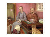 Chinese Merchants Giclee Print by Carl Peter Mazer