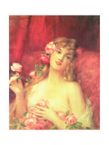 Woman with a Rose Giclee Print by Leon Francois Comerre